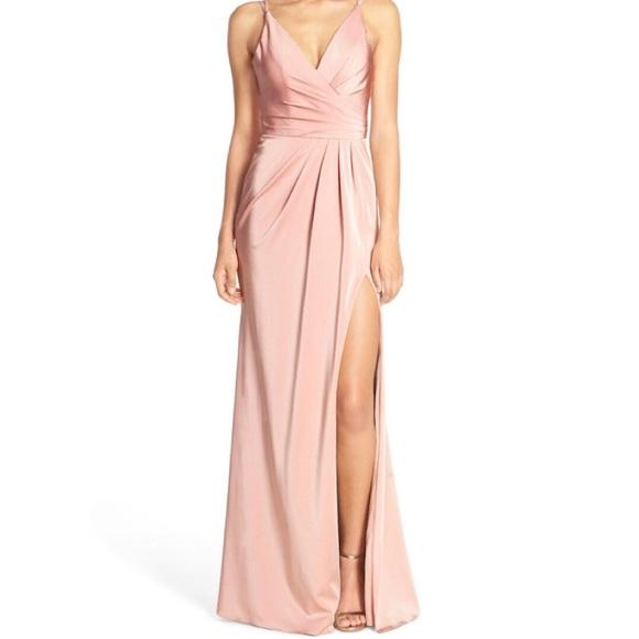 Faviana Dresses   Couture Faille Satin Draped Gown   Poshmark